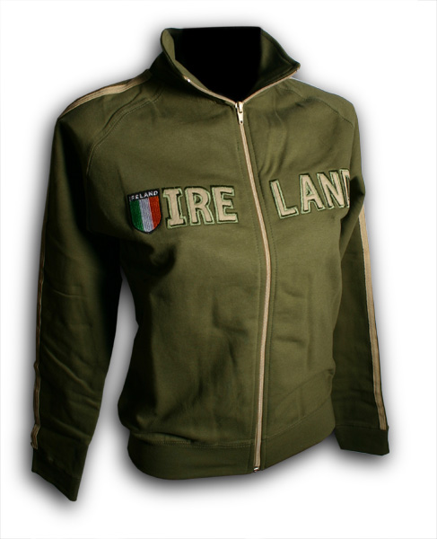 Ladies Ireland Shield Jacket - Olive Green