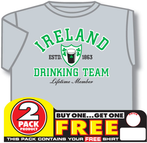 Irish T-Shirt - 2 for 1 Ireland Drinking Team