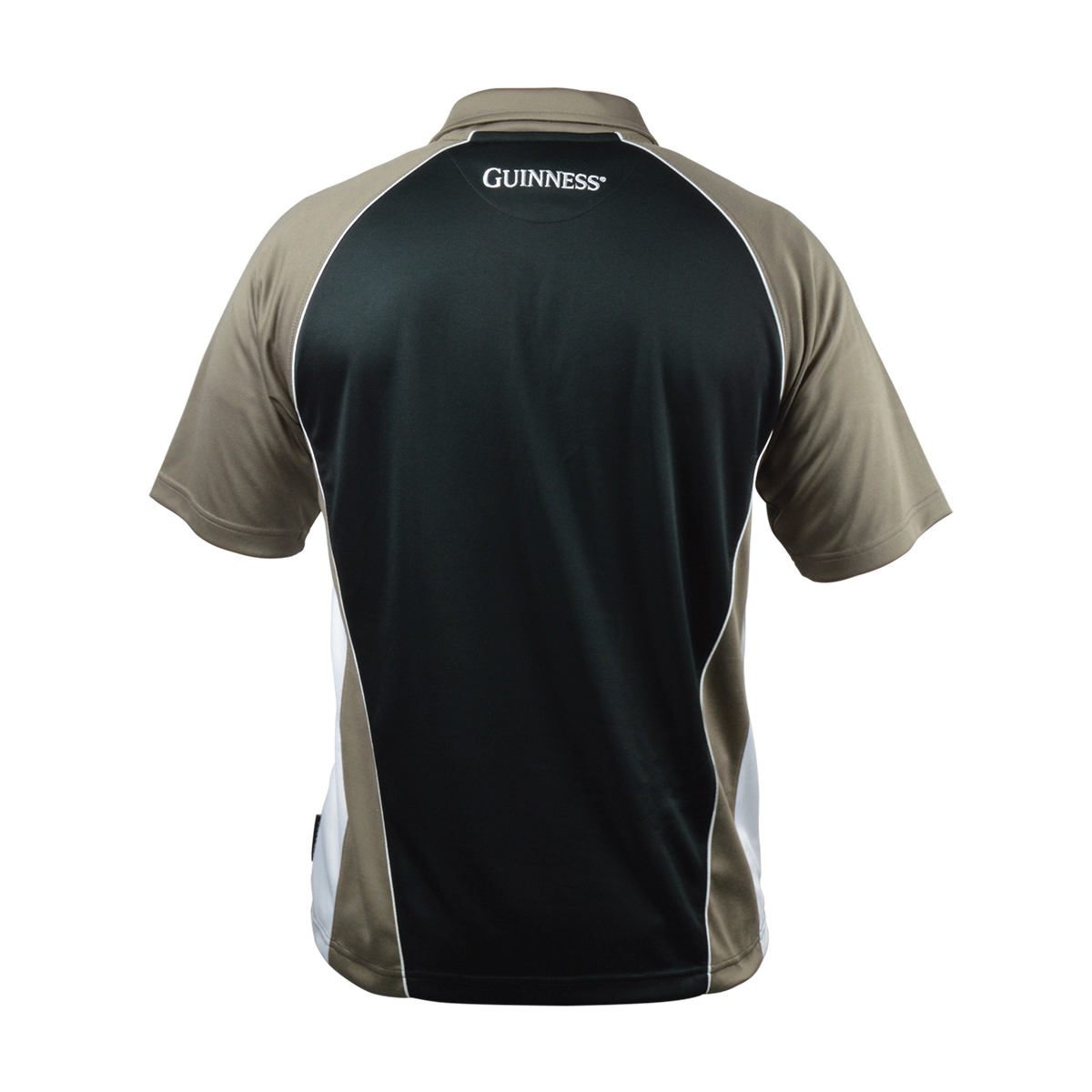 Irish Shirts | Guinness Brown Paneled Performance Golf Shirt
