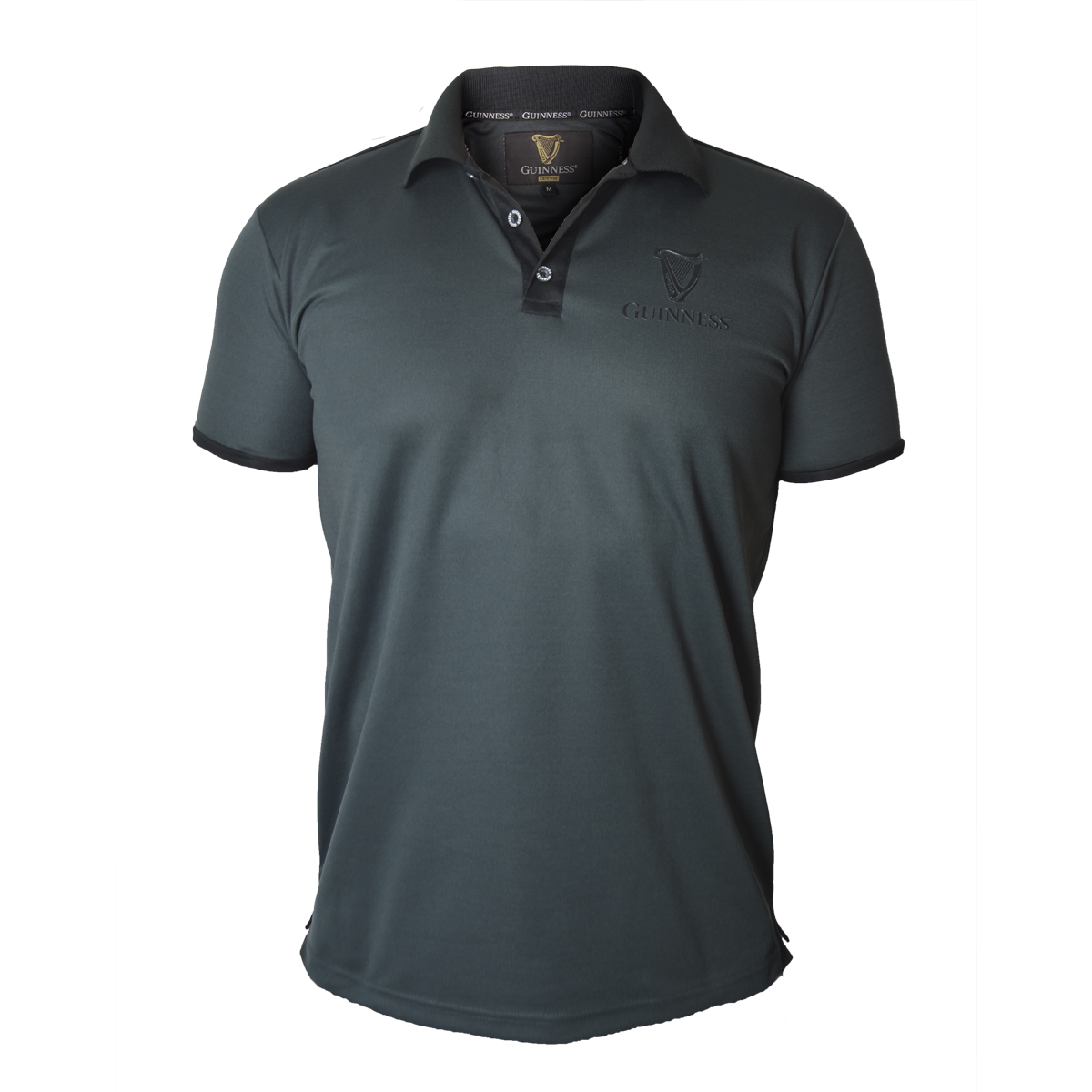 Irish Shirts | Guinness Black Harp Golf Shirt