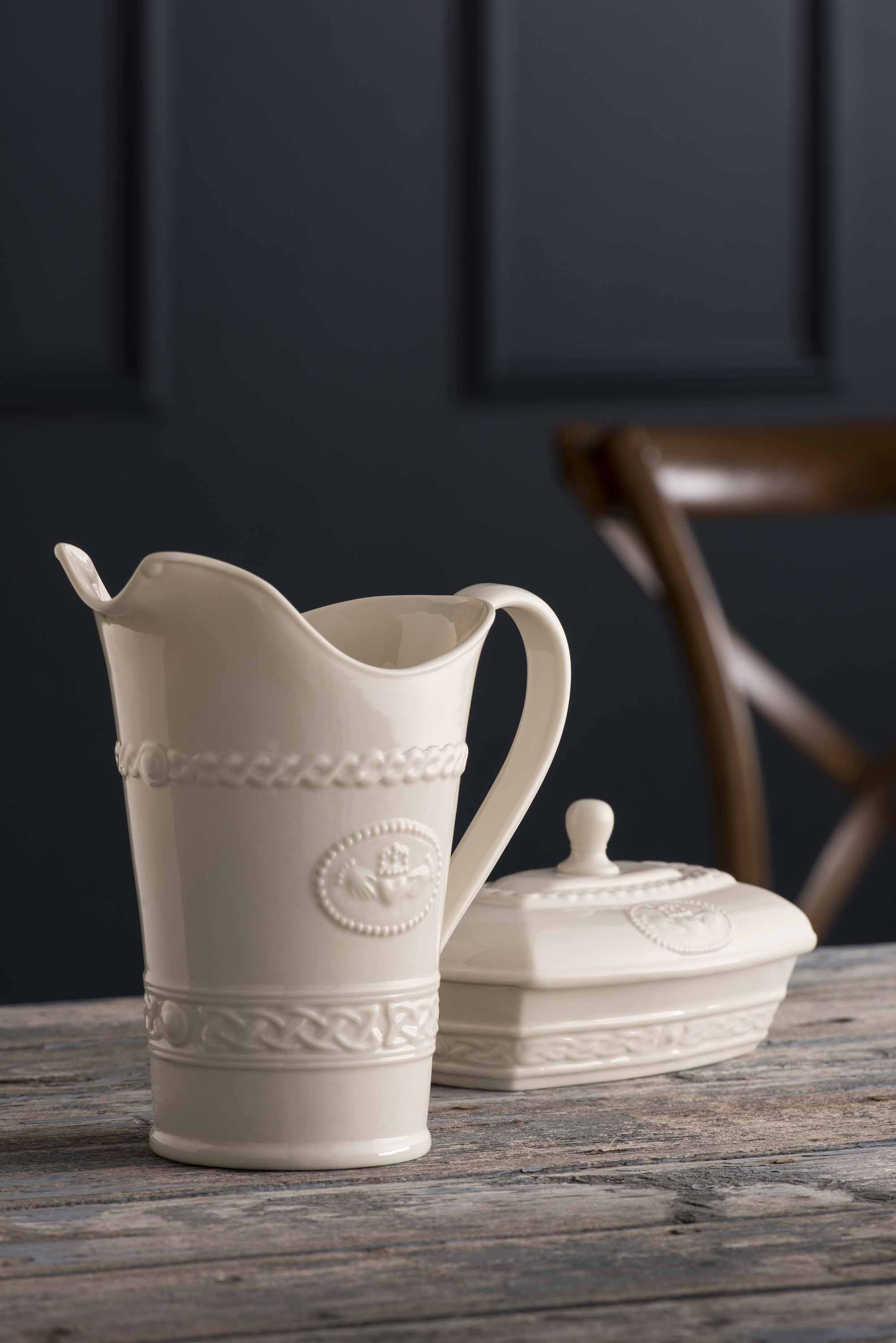 Belleek Pottery | Classic Irish Cladddagh Pitcher