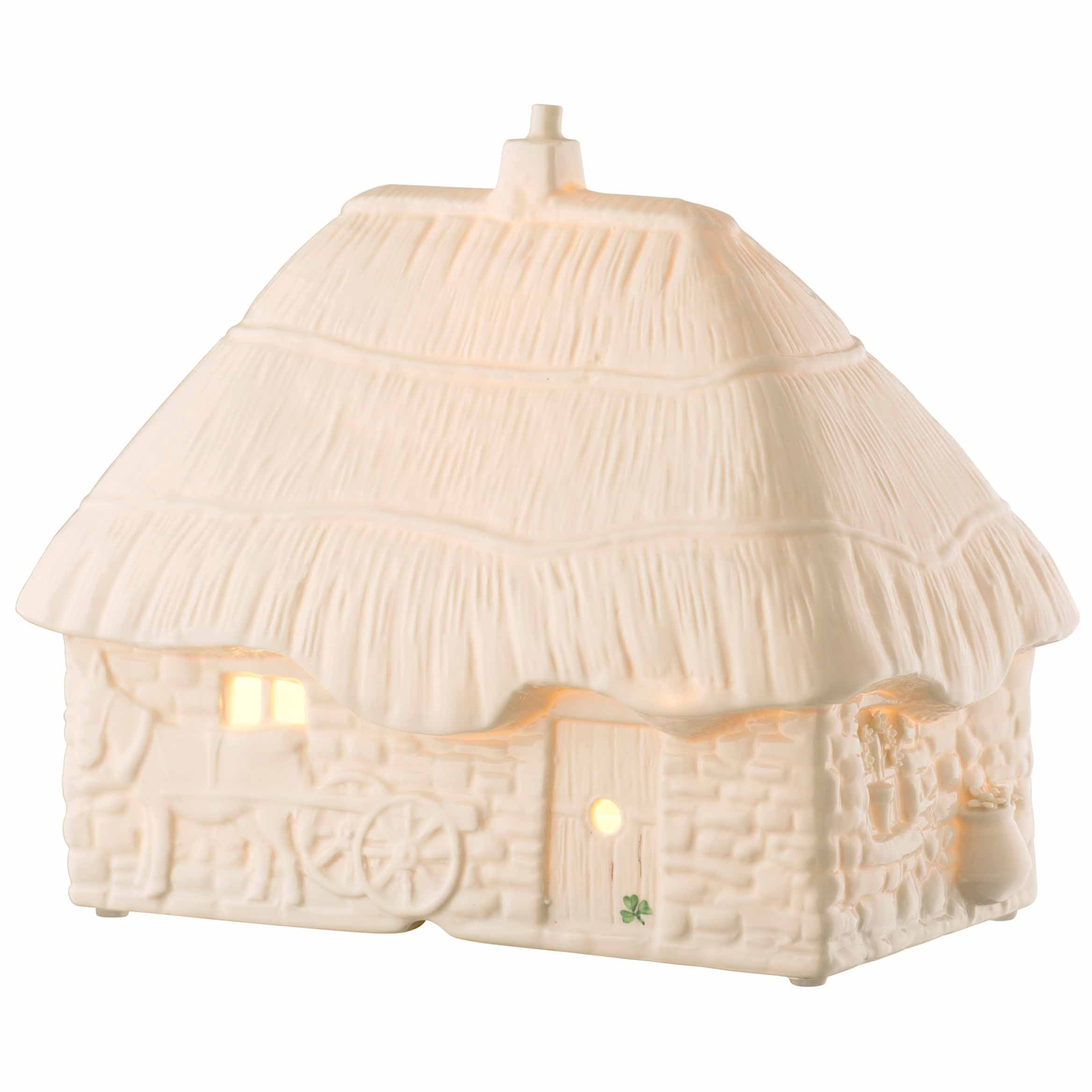 Belleek Pottery | Thatched Cottage Luminaire