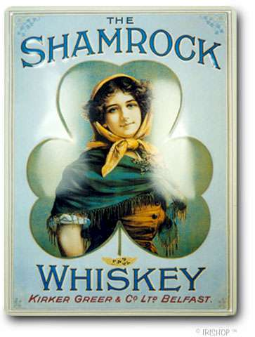 Shamrock Whiskey Medium Pub Sign