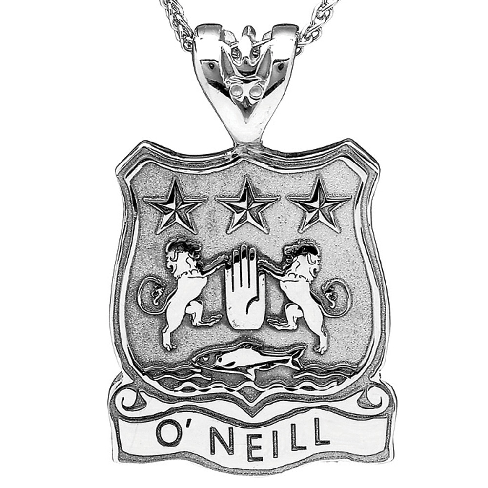 Irish Coat of Arms Jewelry Shield Necklace
