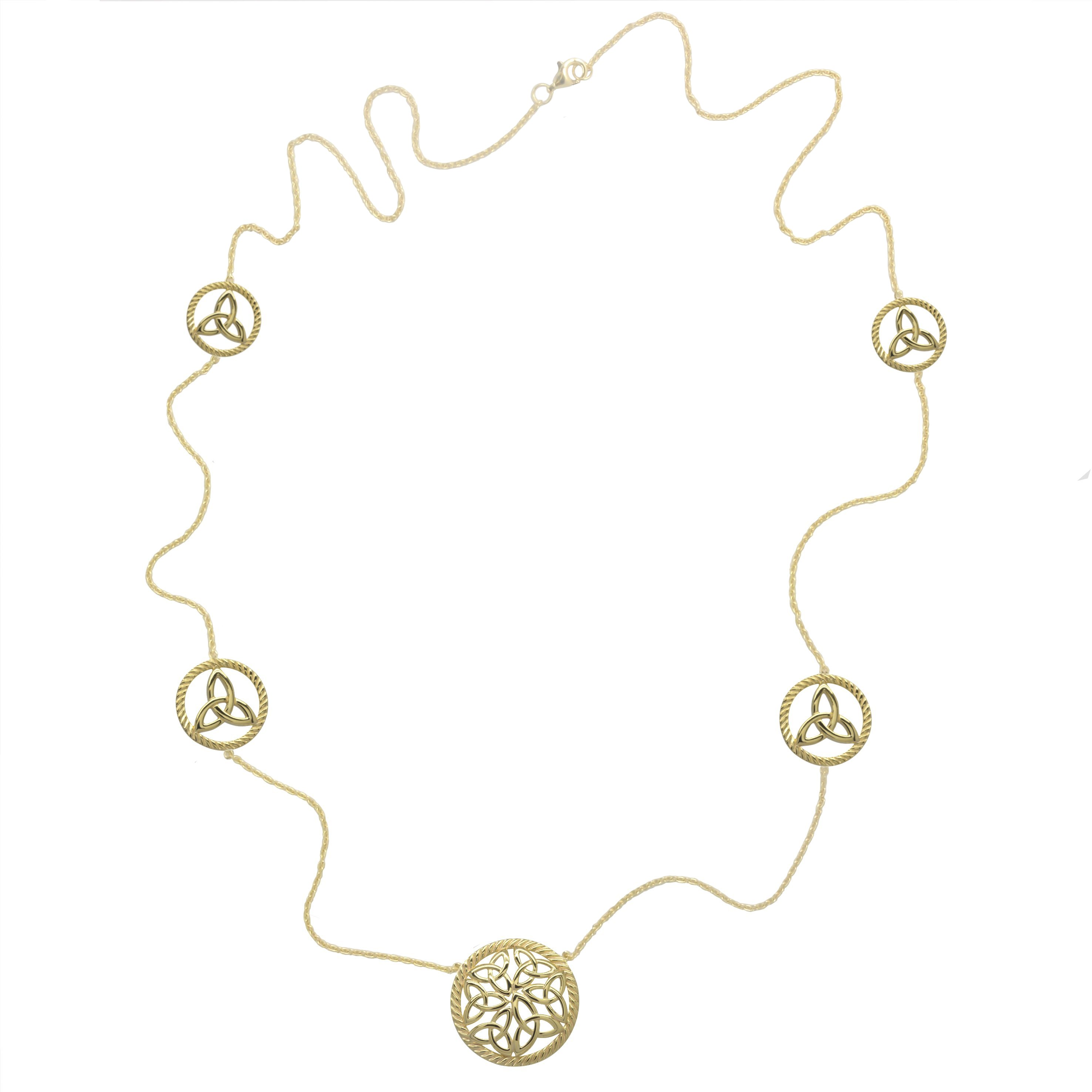 Irish Necklace | Gold Plated Sterling Silver Trinity Knot Irish Necklet