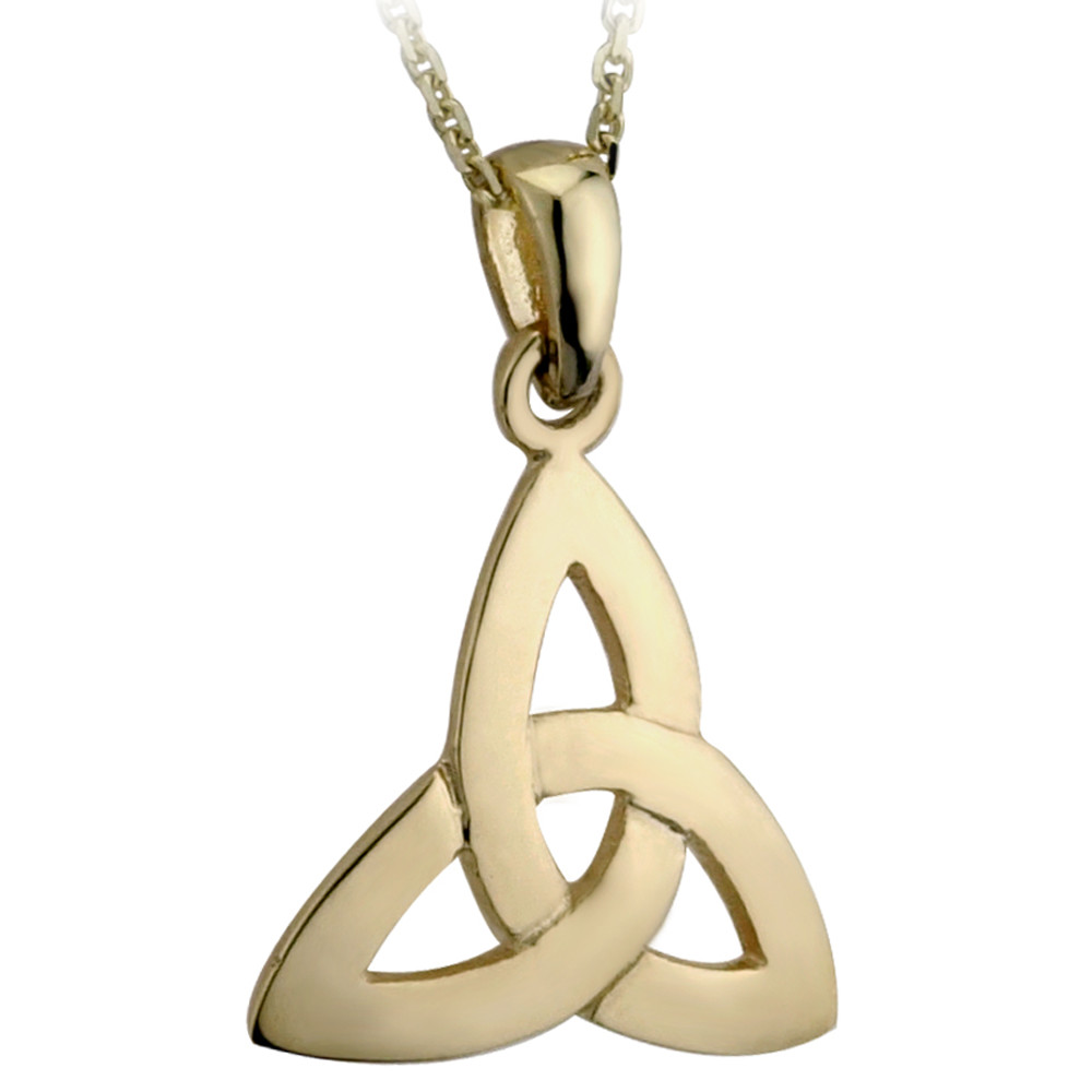 Irish Necklace | 10k Gold Small Trinity Knot Pendant