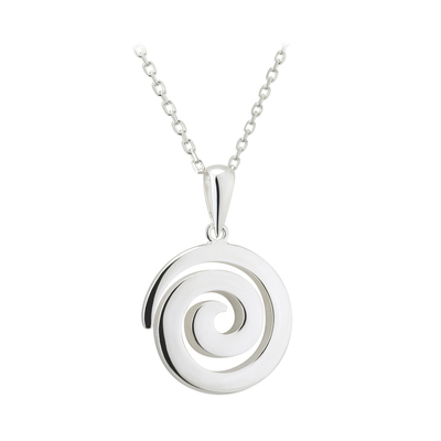 Irish Necklace | Sterling Silver Celtic Spiral Necklace