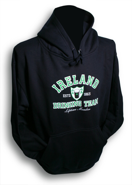 Irish Sweatshirt - Ireland Drinking Team Hooded Sweatshirt