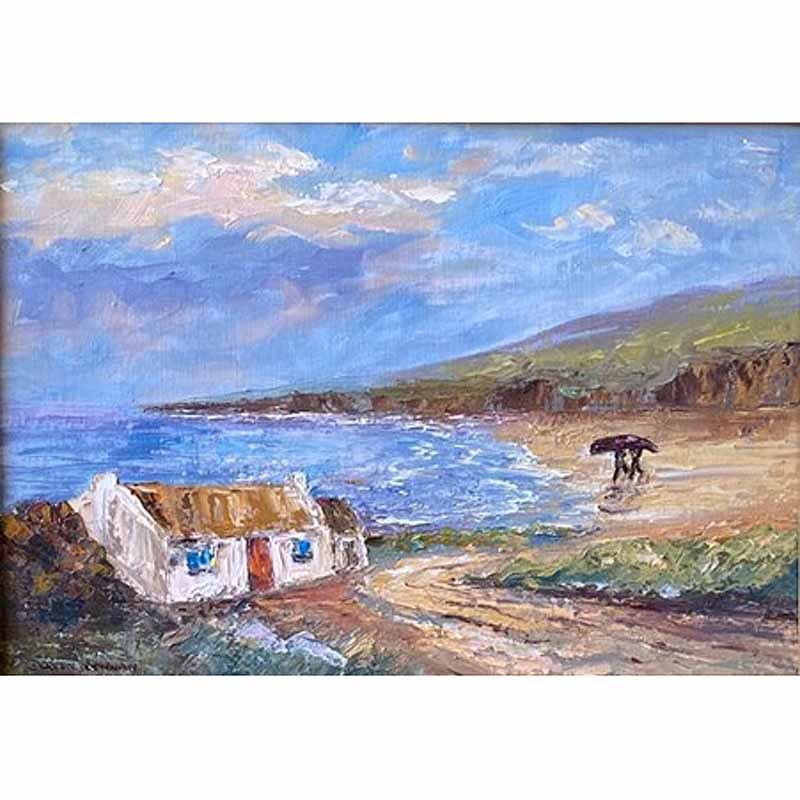 Irish Art | Fishermans Cottage Painting by Doreen Drennan
