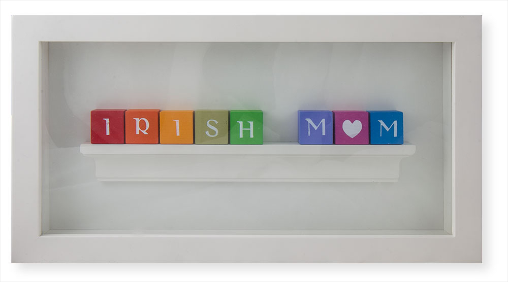 Irish Mom Framed Hand Crafted 'Alphabet' Wall Plaque