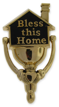 Bless this Home Brass DoorKnocker