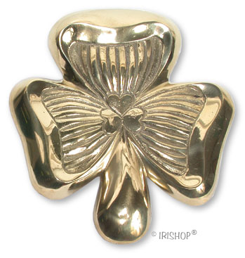 Shamrock Brass Doorknocker