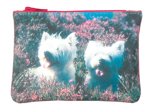 Leather Top Zip Purse - Terriers