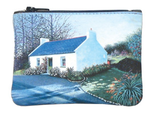 Leather Small Top Zip Purse - Irish Cottage