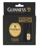GUINNESS BOTTLE & PLAYING CARDS