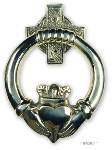 Claddagh Brass DoorKnocker - Medium