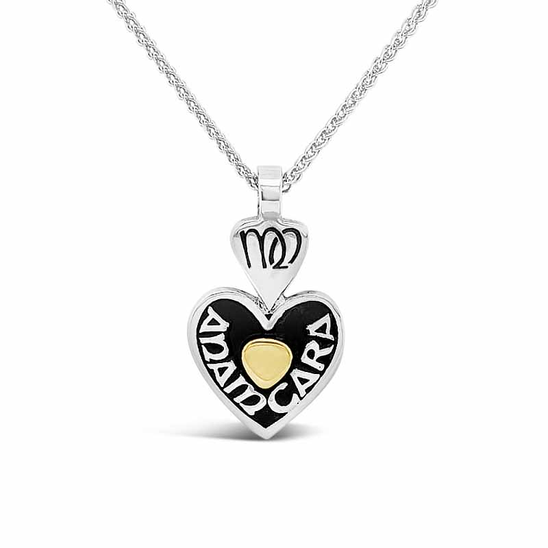"Irish Necklace - Sterling Silver Mo Anam Cara ""My Soul Mate"" Heart Pendant with Chain"