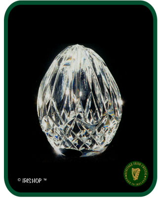 Irish Crystal - Heritage Crystal Reflections Egg Paperweight