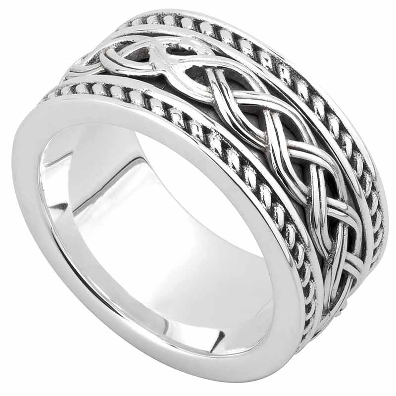 celtic ring men 39 s sterling silver ancient celtic knot band at s21048. Black Bedroom Furniture Sets. Home Design Ideas