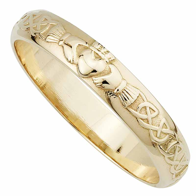 Claddagh Ring - Ladies 14k Gold Claddagh Wedding Band