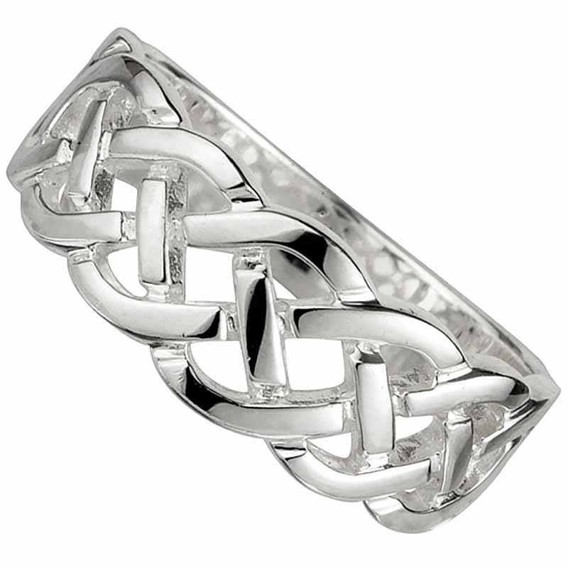 Celtic Ring - Ladies Sterling Silver Woven Celtic