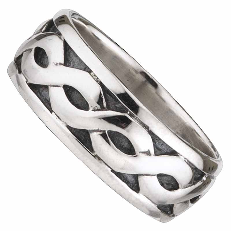 Celtic Ring - Men's Sterling Silver Wide Celtic Band