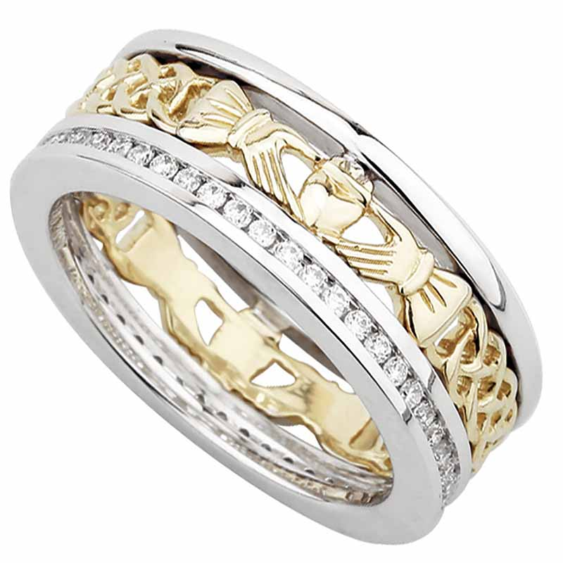 ladies claddagh collection shop s wedding blarney content rings bands