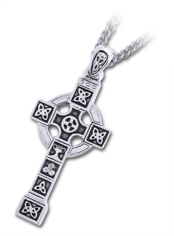 Celtic Pendant - Pewter Celtic Cross Pendant with Chain