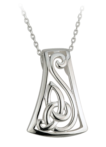 Celtic Pendant - Sterling Silver Celtic Slider Pendant with Chain
