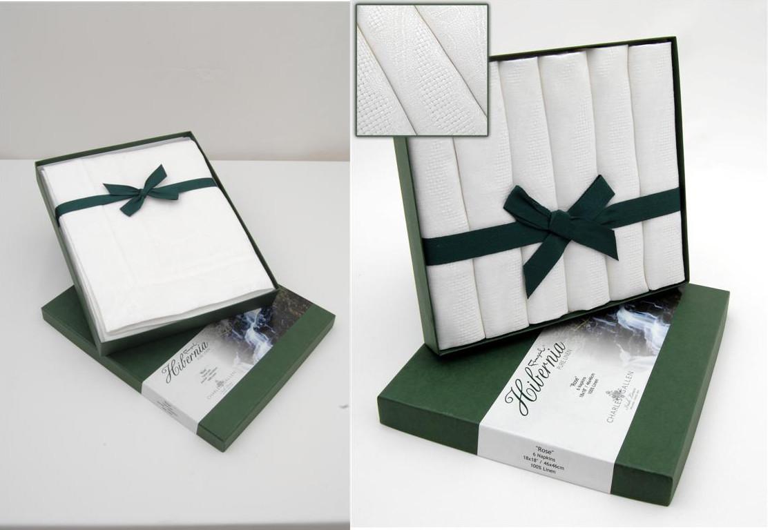 Irish Linen Table Set - Irish Rose Hibernia Collection Tablecloth 55 ...
