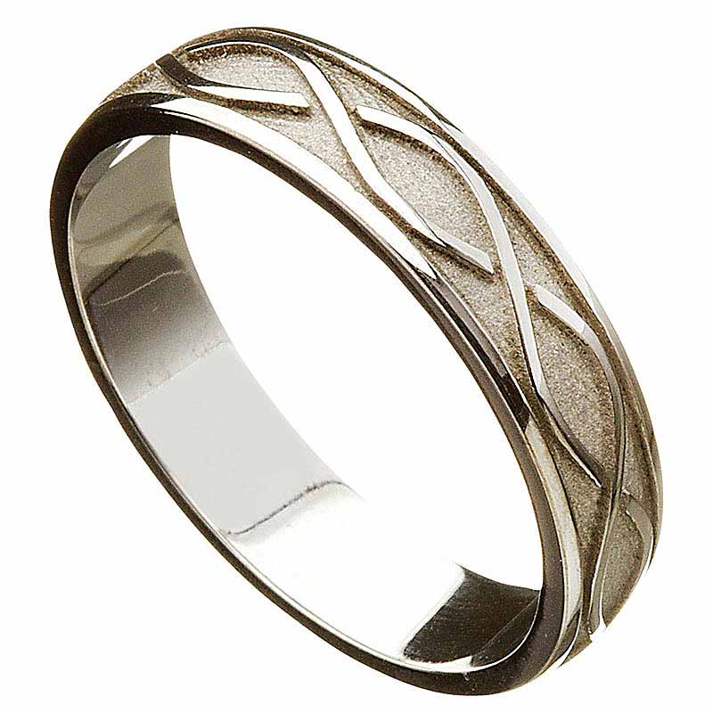 irish wedding ring celtic twist mens wedding band at tjhg027. Black Bedroom Furniture Sets. Home Design Ideas