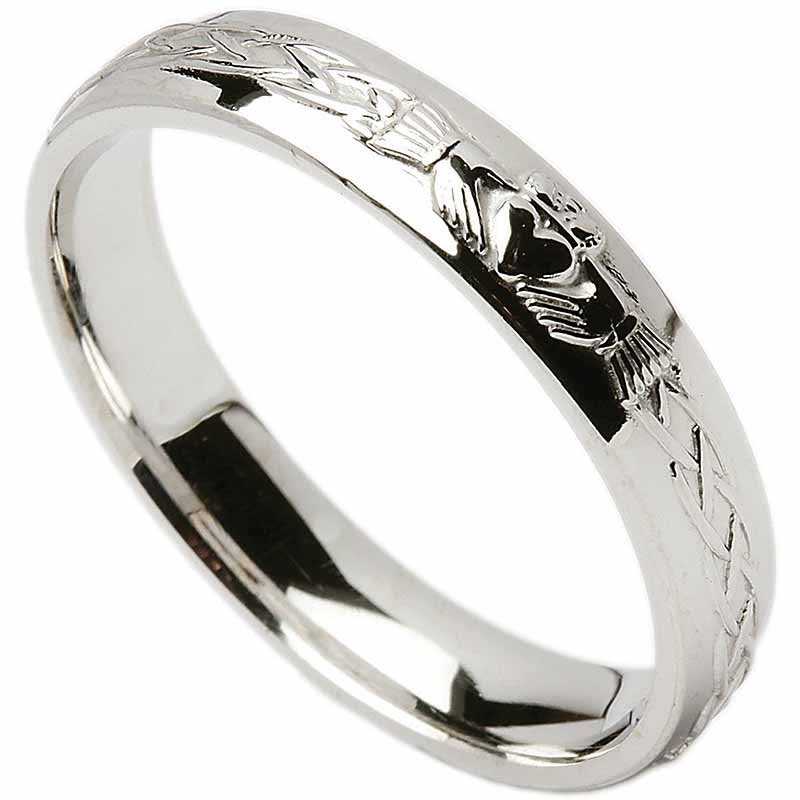 irish wedding ring celtic knot claddagh mens wedding band at tjhg042. Black Bedroom Furniture Sets. Home Design Ideas