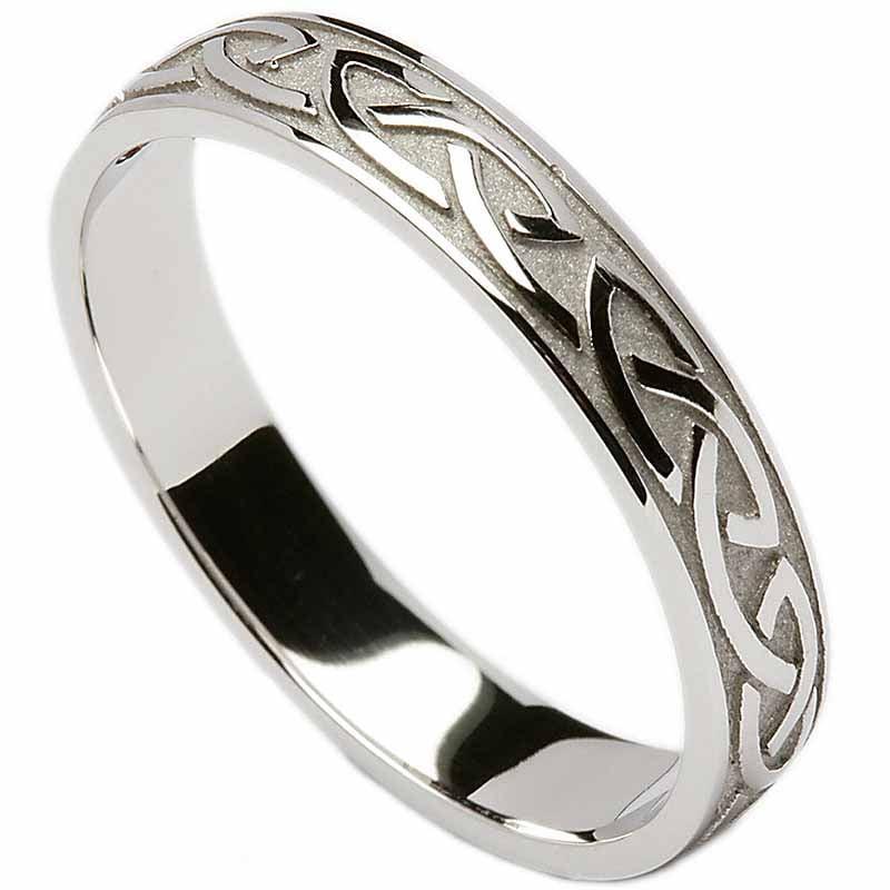 Irish Wedding Ring Celtic Knotwork Ladies Wedding Band at