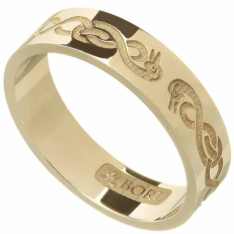 Celtic Ring - Ladies 'Le Cheile' Celtic Wedding Ring