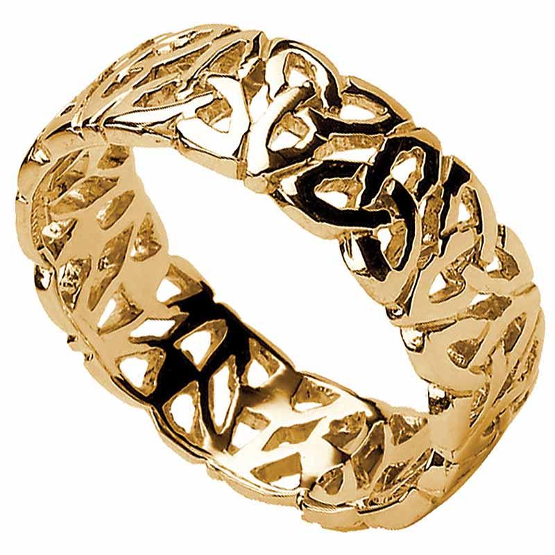 Trinity Knot Ring Men S Filigree Irish Wedding