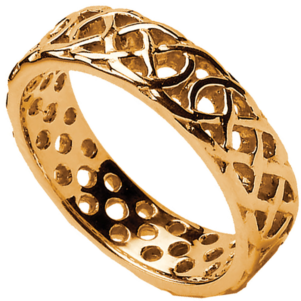 Celtic Ring - Ladies Pierced Celtic Wedding Ring