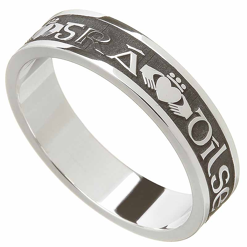 Claddagh Ring - Ladies Gra Dilseacht Cairdeas 'Love, Loyalty, Friendship' Irish Wedding Ring