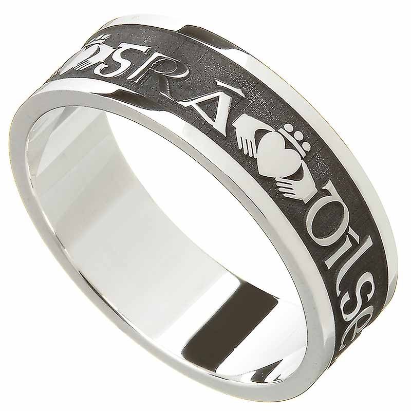 Claddagh Ring - Men's Gra Dilseacht Cairdeas 'Love, Loyalty, Friendship' Irish Wedding Ring