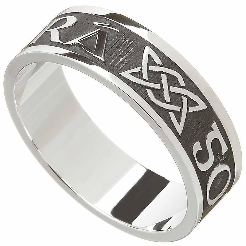 irish ring mens gra go deo love forever irish wedding ring - Mens Celtic Wedding Rings