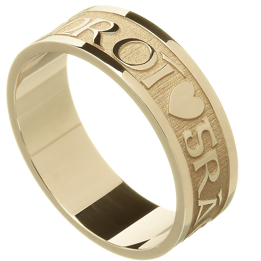 Irish Ring - Men's Gra Geal Mo Chroi 'Love of my heart' Irish Wedding Ring