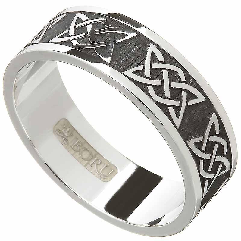 Irish Ring Men S Knot Wedding Band