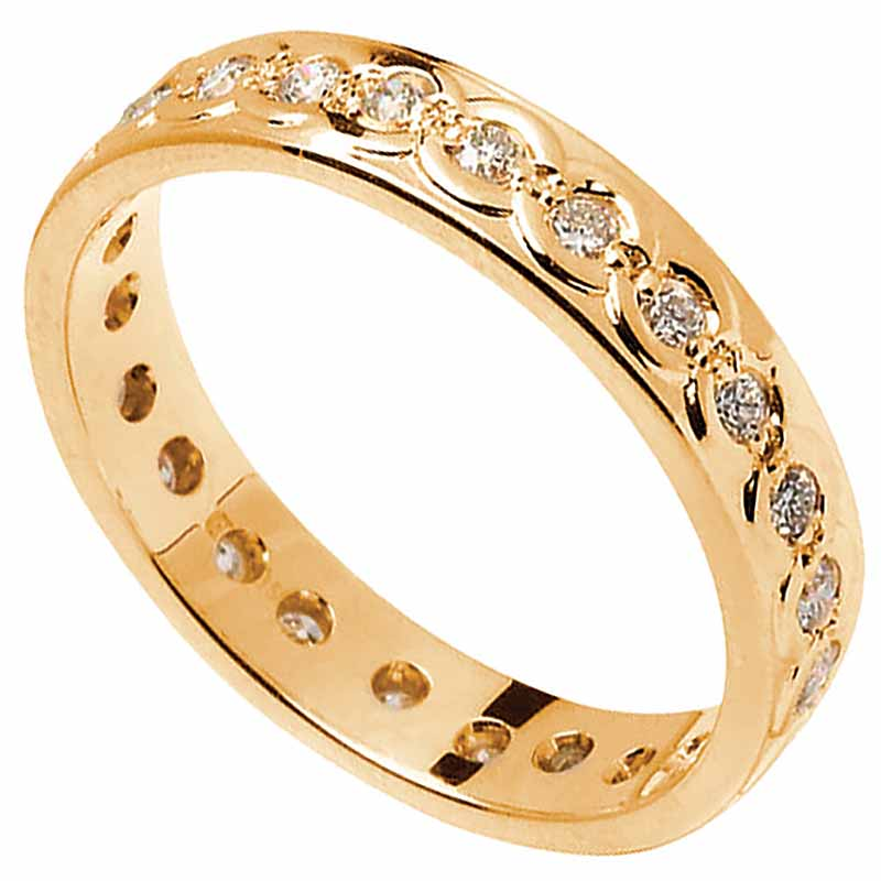 Celtic Ring - Men's Gold with Diamond Set Celtic Wedding Ring