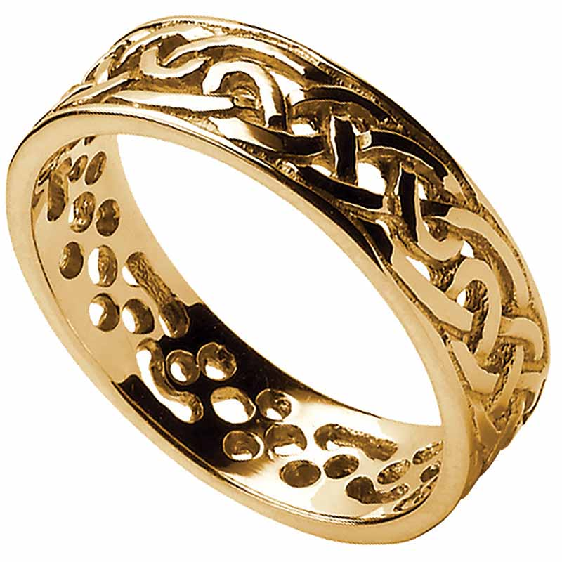 Celtic Ring - Men's Filigree Celtic Wedding Band