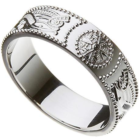 Celtic Ring - Ladies Warrior Shield Wedding Ring
