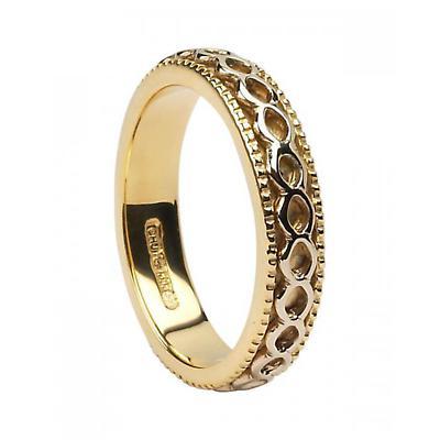 Celtic Ring - Ladies 14k Gold Celtic Spinner Irish Wedding Ring