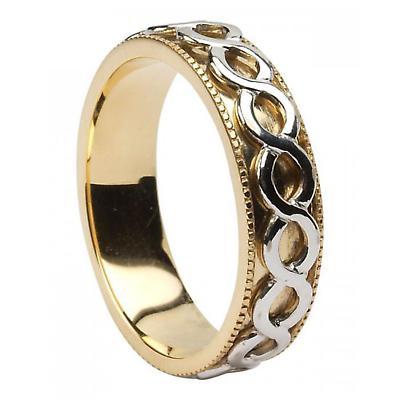 Celtic Ring - Men's 14k Gold Celtic Spinner Irish Wedding Ring