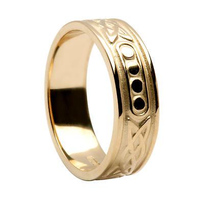 Irish Ring - Unisex Lovers Knot Irish Wedding Band