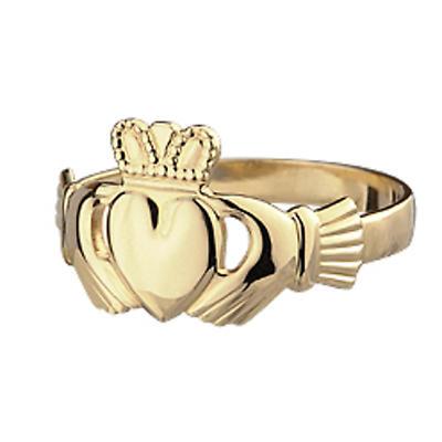 Claddagh Ring - Ladies 10k Gold Slender Claddagh