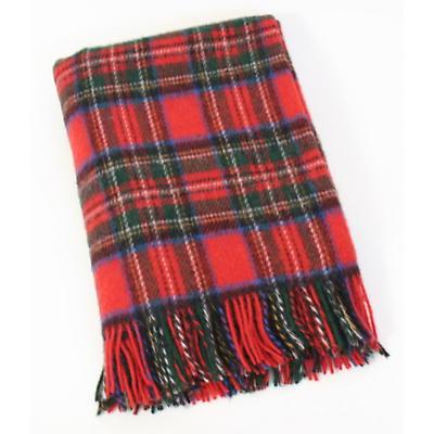 Royal Stewart Tartan 54 x 45 Wool Throw