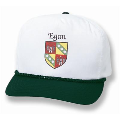 Personalized Irish Coat of Arms Forest Green/White Cap